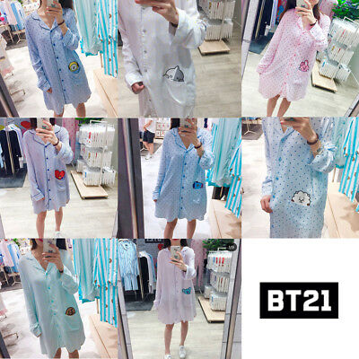 BTS BT21 Official Authentic Goods Pajamas Sleepwear (S~XL) +  tracking number