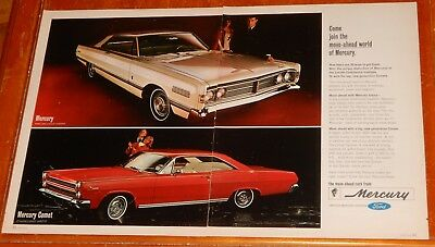 Sweet 1966 Mercury Park Lane Coupe & Comet Cyclone Large Ad -  Classic Americans