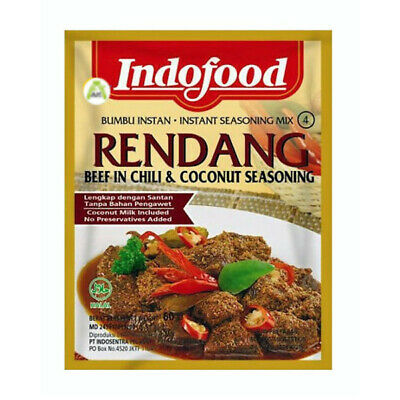 Indofood Rendang Instant Seasoning for Beef in Rich Coconut & Spices 50g Halal