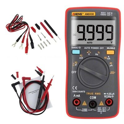 AN8008 True-RMS Digital Multimeter 9999 Counts Ammeter Voltage Meter Tester DE