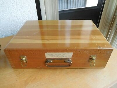 Fine Vintage NEGA-FILE Inlaid Wood Storage Box Dovetail Corners USA
