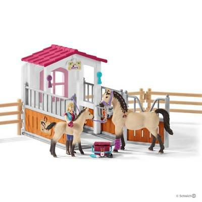 Set BOX CAVALLI ARABI + ADDETTA CURA ANIMALI kit gioco SCHLEICH 42369 miniature