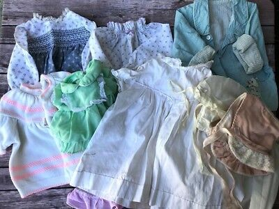 Lot Of 10 Various Vintage Baby Girl Boy Clothes