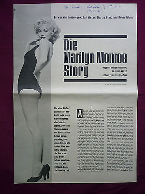 "Marilyn Monroe Film-Revue 14.2.1961 Diana Dors Connie Francis Nat ""king"" Col"