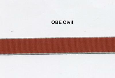 """12"""" of MODERN MINIATURE Medal Ribbon for the OBE/MBE CIVIL"""