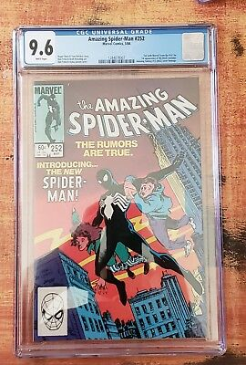 The Amazing Spider-Man #252, CGC 9.6 White Pages, 1st Black Costume!