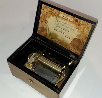 Rare Antique Long March Fat Cylinder Snuff Music Box C.1890 (Watch Video)