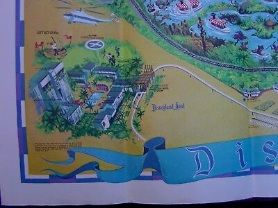 Vintage Map Of Disneyland 1968 ~ Very Close To Mint Condition