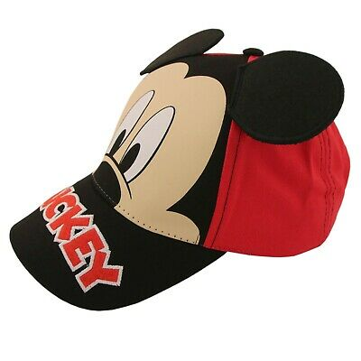 Disney Little Boys Mickey Mouse Character Cotton Baseball Cap, Red/Black,Age 2-7