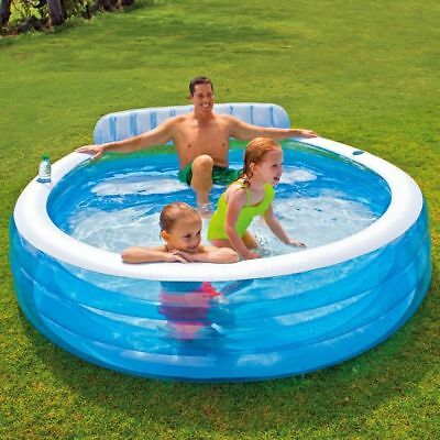 INTEX Swim Center Lounge Family Swimming Pool Rund Planschbecken Kinderpool