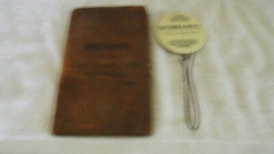 "Rare 2"" Celluloid Receipt Holder And Ledger- Widmans Shoes Drygoods Johnstown Pa"