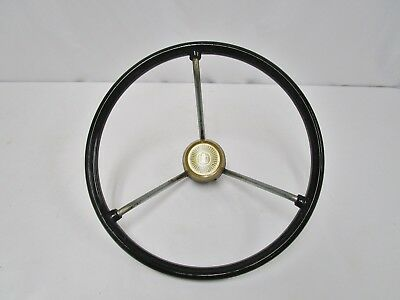 "VINTAGE International Harvester 13"" Steering Wheel with IH Cap"