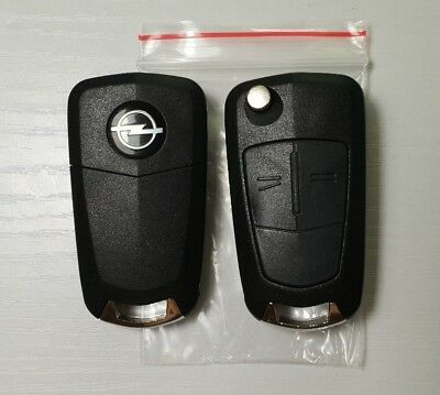 Replacement 2 button flip key case for Vauxhall Opel Astra H remote fob Zafira B