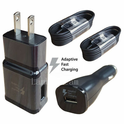 OEM Samsung Galaxy S8 S9+ Plus Edge Note8 Fast Charger Car Wall Plug TypeC Cable