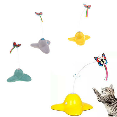 Pet Electric Rotating Bird Flower Toy For Cat Teaser Wire Interactive Toys Pro