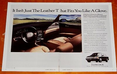 Black 1996 Lincoln Continental Sharp Car Ad - Retro 90S American Luxury Car Auto