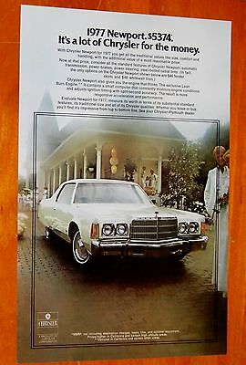 Beautiful 1977 Chrysler Newport Coupe In White American Ad - Retro 70S Vintage