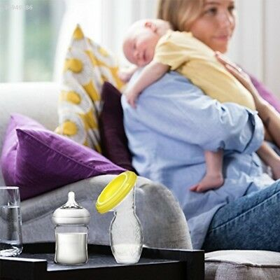 Silicone Manual Breast  Pump Baby Milk Saver Suction With Lid Safe Safty EFD7
