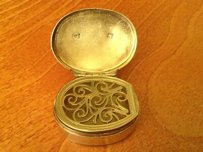Antique solid silver George III Vinaigrette hallmarked for London 1796