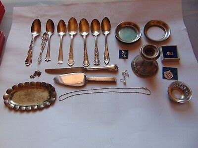Lot Of Vintage Sterling Silver For Use Or Scrap 306.9 Grams