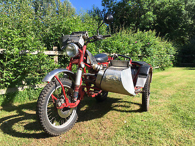 1960's Rickman Metisse long distance Classic trials outfit sidecar combination