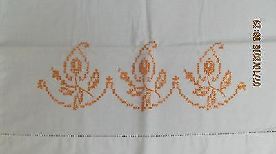 Vintage White Hand Embroidered Pillow Case