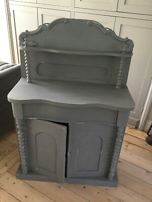 Edwardian chiffonier original painted in contemporary Grey, loads of storage