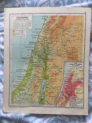 Map - Palestine AND South Western Asia - Circa 1930