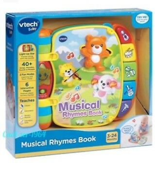 Vtech MUSICAL RHYMES BOOK Baby/Toddler Early Reading Educational Story BN