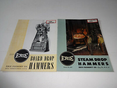 Vintage Erie Foundry Co. Board And Steam Drop Hammers Catalogs Power Hammer