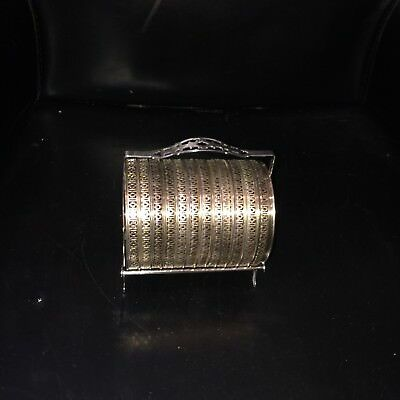 Webster Sterling Silver & Star Cut Glass12 Coasters (5 cracked)& elegant stand
