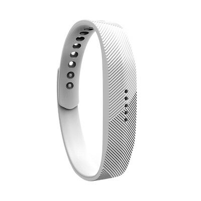 Silicone Wrist Strap Bracelet Band For Fitbit Flex 2 Activity Tracker White