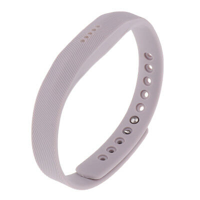 Silicone Wrist Strap Bracelet Band For Fitbit Flex 2 Activity Tracker Gray