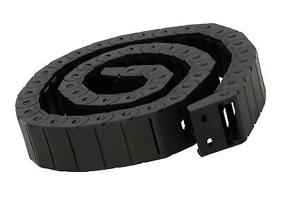 15mm x 30mm Black Plastic Semi Closed Drag Chain Cable Carrier 1M 15... - NO TAX