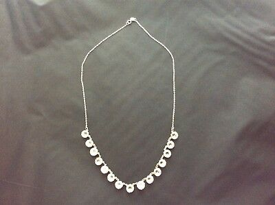 Vintage Sterling Silver & Rhinestone Necklace