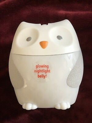 Skip Hop Moonlight & Melodies Nightlight Soother-Owl, Multi, Gently Used.