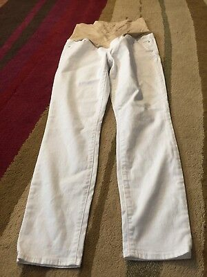 Ann Taylor Loft White Skinny Jeans Maternity 10M NWT