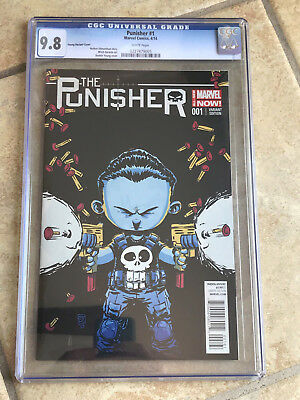 THE PUNISHER #1 cgc 9.8 2014 Series - SKOTTIE YOUNG VARIANT COVER