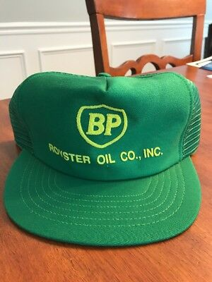 Vintage BP Oil Company Trucker Hat Made In USA