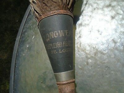 Vintage Feather Duster Wood Handle Longwear Shapleigh Hardware Co. St. Louis