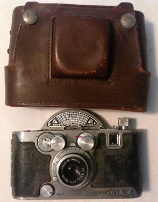 Vintage Mercury II CX Model  Camera with Tricor 35mm f 2.7 Lens UNTESTED