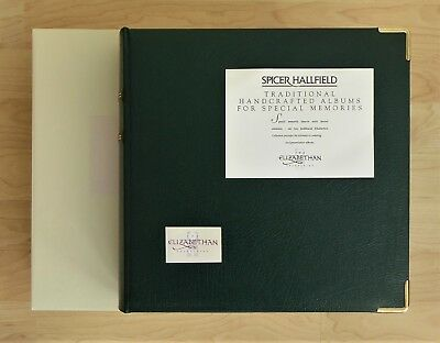 Spicer Hallfield Green Leather Elizabethan Boxed Photograph Album (Damaged)