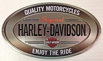 Ande Rooney HARLEY DAVIDSON ENJOY RIDE Tin HD Motorcycle Garage Man Cave Sign