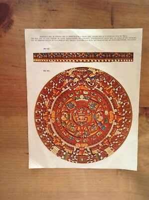The Sun Stone Or Aztec Calendar Literature And Drawing Folder              #8969