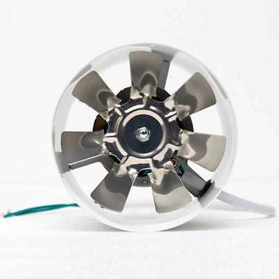 """4""""in Inline Duct Fan Booster Exhaust Blower Air Cooling Vent Metal Blade 220V"""