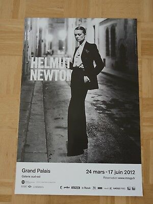 HELMUT NEWTON - Grand Palais - Yves Saint Laurent-    ORIGINAL POSTER