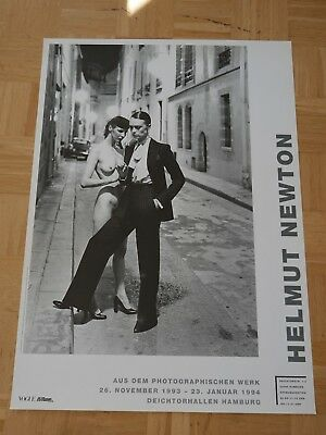 HELMUT NEWTON - Rue Aubriot - Vogue - ORIGINAL POSTER