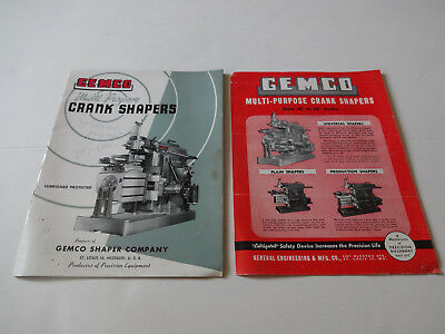 Vintage Gemco Shapers Metal Shaping Machines Catalogs *2 Pcs*