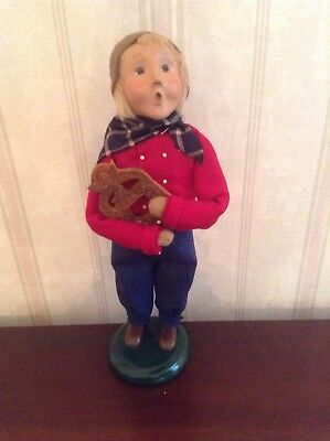 2004 Byers Choice Caroler Dutch Boy With Wooden Cookie Mold