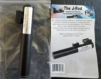 J-ROD TWIN MOUNT -For Camera Microphone Clamps